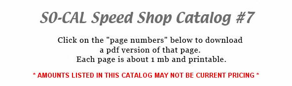 SO-CAL Speed Shop Catalog #7 | PDF Download pages