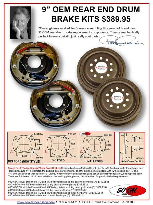 9-inch Ford 'Police Special' Rear Drum Brakes
