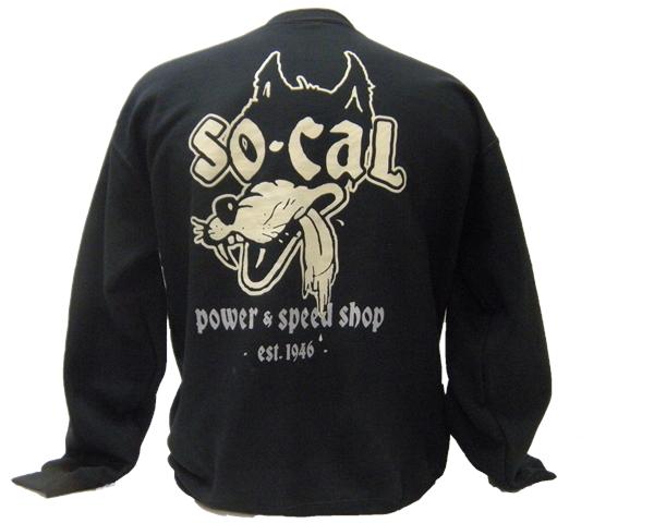 SO-CAL Speed Shop Cycle Script Crew Neck Sweatshirt Black